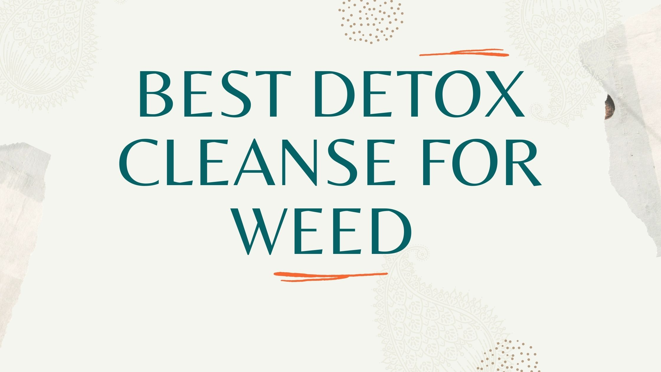 Best Detox Cleanse For Weed